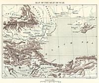 Карта театра военных действий на Чёрном море. Грав