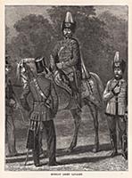 Русская лёгкая кавалерия. Гравюра из A Popular His