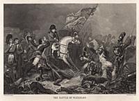 Битва при Ватерлоо. Гравюра из A Popular History O