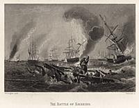 Наваринское морское сражение 1827 года. Гравюра из