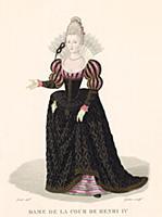 Костюм дамы при дворе Генриха IV, короля Франции (