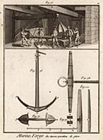 Морской флот. Якорная мастерская. Процесс удаления