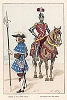 Сержант городской стражи (XVII век) и дворянин в к