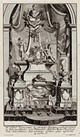 Надгробный памятник знатного человека внутри церкв