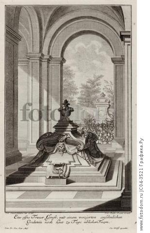 Могильная плита. Johann Jacob Schueblers Beylag zur Ersten Ausgab seines vorhabenden Wercks. Нюрнберг, 1730