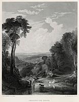 Переправа через ручей (лист из альбома 'Галерея Тё