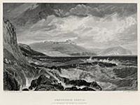 Вид на замок Пенденнис в графстве Корнуол (Англия)