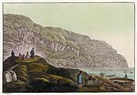 Селения индейцев на острове Уналашка. Северная Аме