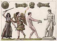 Спортивные состязания в Древней Греции (из знамени