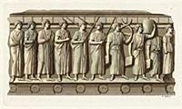 Этрусская урна с изображением магистратов (из знам
