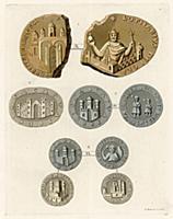 Изображения античных крепостей на средневековых мо