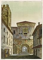 Арки и башни римской стены в Милане (из знаменитой