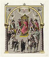 Император Карл II Лысый, сидящий на троне (из знам
