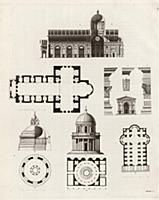 Церкви архитекторов Алберти и Брамантэ в разрезе (