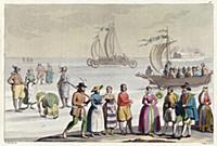 Костюмы голландцев и транспорт, движимый силой вет