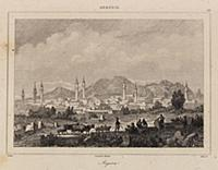 Вид на город Ангора в начале XIX века (ныне столиц