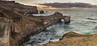 'Coastal cliffs, Tunnel Beach, Otago Peninsula, Ot