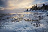 Skim ice in negative thirty degree fahrenheit at s