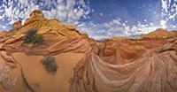 Sandstone buttes on Colorado Plateau, Arizona