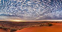 Sand dune at sunrise, Simpson Desert, Northern Ter