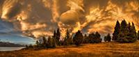 Sunset near Lake Pukaki, Mackenzie Country, New Ze