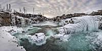 River in winter, Putoransky State Nature Reserve,