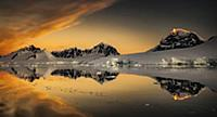 Coastal mountains at sunset, Fief Range, Wiencke I
