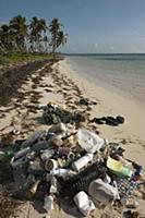 Beach trash, Sian Ka'an Biosphere Reserve, Quintan
