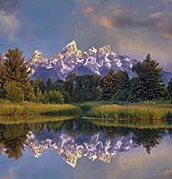 Grand Tetons from Schwabacher Landing, Grand Teton
