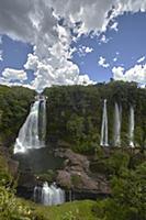 Waterfalls in rainforest, La Macarena, Colombia