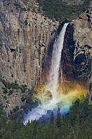 Bridal Veil Falls and rainbow, Yosemite National P