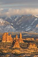 Sandstone formations, La Sal Mountains, Arches Nat