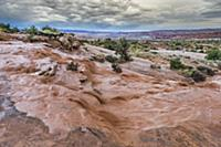 Flash flood after heavy rain, Arches National Park