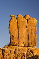 The Three Penguins sandstone formation, Arches Nat