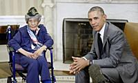Встреча Барака Обамы и Эммы Дидлэйк
