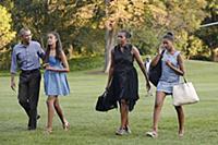 Семья Барака Обамы на отдыхе