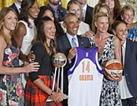 Женская баскетбольная команда Phoenix на приеме в Белом Доме