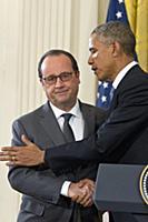Пресс-конференция Франсуа Олланда и Барака Обамы в Белом доме