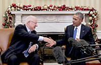 Встреча Барака Обамы и Реувена Ривлина