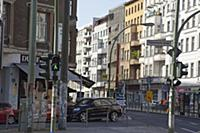Germany, Berlin, Mitte, Ampelmann crossing sign at