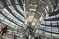 Germany, Berlin, Mitte, Reichstag building with gl