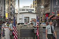 Germany, Berlin, Mitte, Checkpoint Charlie on Frie