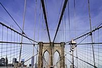 USA, New York, Brooklyn Bridge. View across bridge