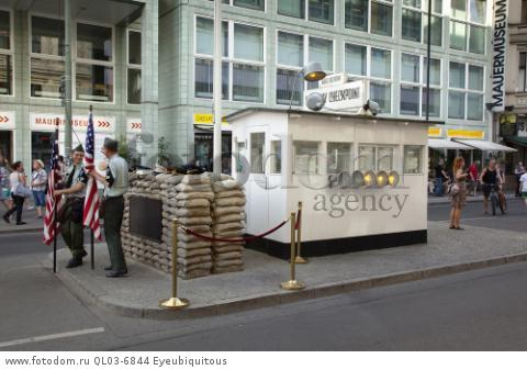 Germany, Berlin, Mitte, Checkpoint Charlie on Friedrichstrasse.