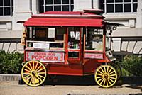 USA, Washington DC, National Mall, Popcorn cart.