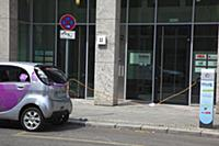 Germany, Berlin, Mitte, Citroen electric car being