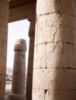 View of the Hypostyle Wall at the Ramesseum, the m