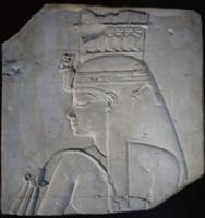 Relief head of Queen Tiye wife of Amenophis III. I