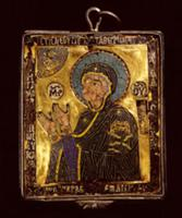 A small gold and enamelled reliquary which would h
