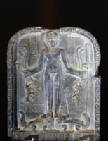 Stele with relief sculpture of Horus with the side